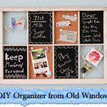 DIY Organizer from Old Window