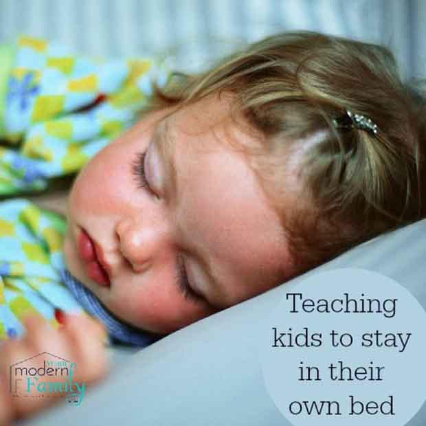 Teaching Kids To Stay In Their Own Bed
