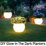 DIY Glow In The Dark Planters