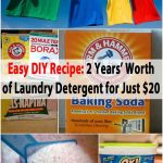 Easy DIY Recipe: 2 Years' Worth of Laundry Detergent for Just $20