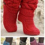 DIY: FREE Pattern for Cozy Slipper Boots