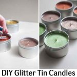 DIY Glitter Tin Candles