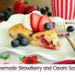 Homemade StrawBerry and Cream Scones