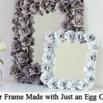 Mirror Frame Made with Just an Egg Carton!