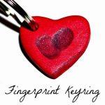 Fingerprint Heart Keyring