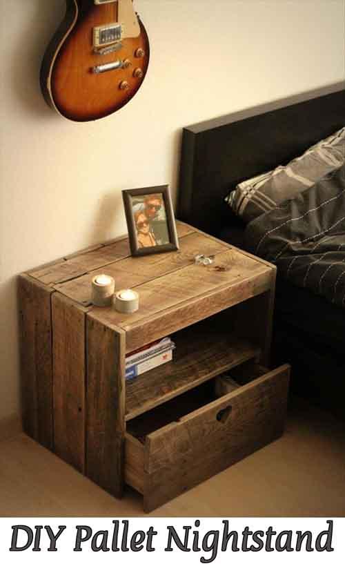 diy pallet nightstand - lil moo creations Diy Night Stand