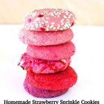 Homemade Strawberry Sprinkle Cookies