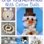Winter Crafts & Activities Using Cotton Balls