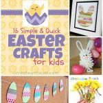 16 Simple & Quick Easter Crafts For Kids