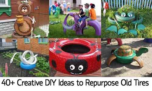 40 creative diy ideas to repurpose old tires lil moo for How to use old tires in a garden