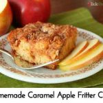 Homemade Caramel Apple Fritter Cake