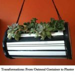 Transformations: From Oatmeal Container to Planter