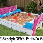 DIY Sandpit With Built-In Seats