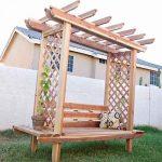 DIY: Outdoor Bench with Arbor