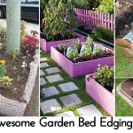 28 Awesome Garden Bed Edging Ideas