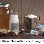 Fresh Ginger Tea with Sweet Honey Cream