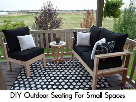 Diy outdoor seating Pallet Diy Outdoor Seating For Small Spaces Photo Credit Hertoolbelt Lil Moo Creations Diy Outdoor Seating For Small Spaces Lil Moo Creations