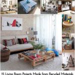 15 Living Room Projects Made from Recycled Materials