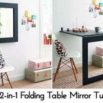 DIY 2-in-1 Folding Table Mirror Tutorial