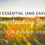 40 Essential (and Easy!) Homesteading Skills You Can Learn By Video