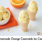 Homemade Orange Creamsicle Ice Cream