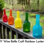 DIY Wine Bottle Craft Rainbow Lanterns