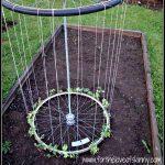 Recycled Tire Garden Trellis