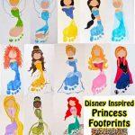 Disney Princess Footprints