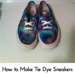 How to Make Tie Dye Sneakers