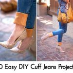 10 Easy DIY Cuff Jeans Projects
