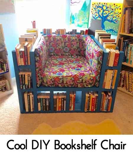 Cool DIY Bookshelf Chair