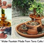 DIY Water Fountain Made From Terra Cotta Pots