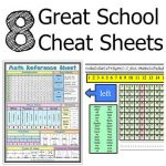 8 Great School Cheat Sheets