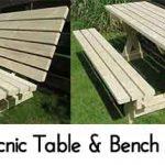 DIY Picnic Table & Bench – 2 in 1