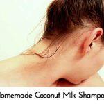 Homemade Coconut Milk Shampoo