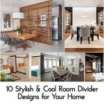 10 Stylish & Cool Room Divider Designs for Your Home