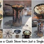 Make a Quick Stove from Just a Single Log