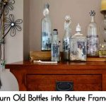 Turn Old Bottles into Picture Frames