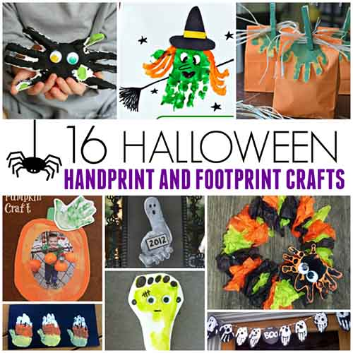 halloween handprint and footprint art 16 handprint and footprint crafts lil moo 6671
