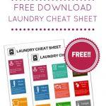 Free Laundry Cheat Sheet Download
