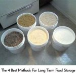 The 4 Best Methods For Long Term Food Storage