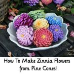 How To Make Zinnia Flowers from Pine Cones!