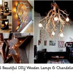 25 Beautiful DIY Wooden Lamps & Chandeliers