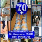 70+ Awesome Jeans DIY Projects {Refashioning, Slimming, Transforming}