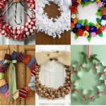 30+ Up-Cycled Christmas Wreaths