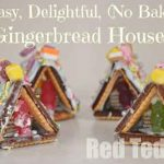 Mini No-Bake Gingerbread Houses