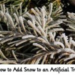 How to Add Snow to an Artificial Tree