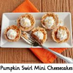 Pumpkin Swirl Mini Cheesecakes