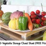 Fruit & Vegetable Storage Cheat Sheet (FREE Printable)