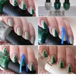 Easy Christmas Tree Nails